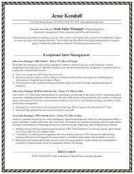 Resume Exles For National Sales Manager