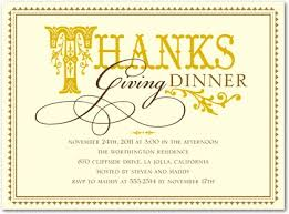 invitation for thanksgiving dinner cimvitation