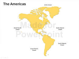 the americas map americas map editable ppt slides