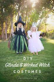 how to make a witch costume diy glinda and wicked witch of the west halloween costumes