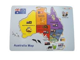australia map of cities map of australia wooden puzzle learn states cities flags wildlife