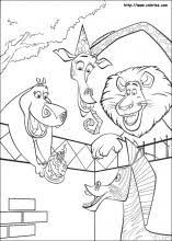 madagascar coloring pages coloring book