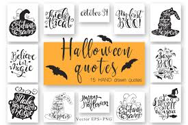 halloween hand drawn quotes by nereia thehungryjpeg com