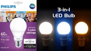 Color Led Light Bulbs Review Philips Sceneswitch Led Bulb Three Colors Of White In