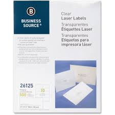 business source 26125 clear shipping labels permanent adhesive 2
