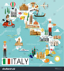 Map Of Florence Italy Map Italy Travel Iconsitaly Travel Map Stock Vector 669109273