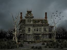 halloween bg haunted house premade background by roys art deviantart com on