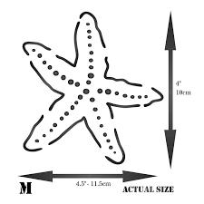 amazon com stencils for walls starfish stencil 4 x 4 5 inch