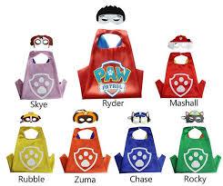 party pack 21 paw patrol capes masks kids superhero cape paw