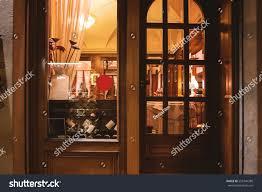 Wooden Door Window Wine Shop Wooden Door Storefront Stock Photo 553746280