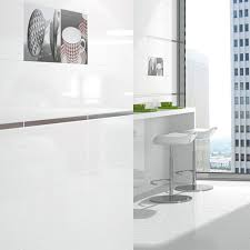 White Bathrooms by Alaska Blanco White Gloss Tile Black And White Bathroom Ideas