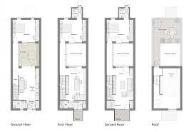 Row Home Floor Plan   awesome philadelphia row home interior design 5 row house floor