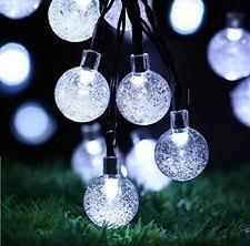 30 solar led waterproof string lights white garden decor indoor