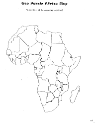 Uc Map 5d Geopuzzle Africa Map Uc Links Activity Guides