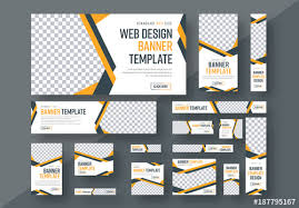 layout banner template web banner layout set 3 buy this stock template and explore similar