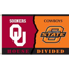 Flag Of Oklahoma Oklahoma Vs Oklahoma State 3ft X 5ft Team Flag House Divided
