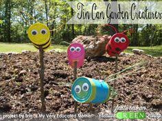 Gardening Crafts For Kids - diy deko ideen gartengestaltung dekoration selber machen radkappen