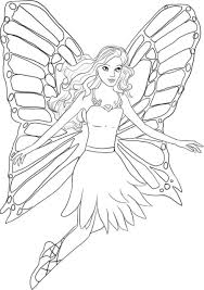 fairy coloring page online for kid 8820