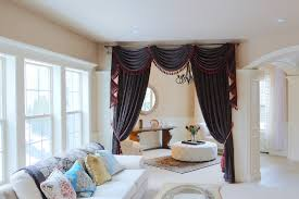 Chocolate Brown Valances For Windows Dark Brown Chenille Flip Pole Swag Valance Draperies 100
