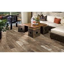 Style Selections Laminate Flooring Shop Style Selections Sequoia Ballpark Glazed Porcelain Indoor