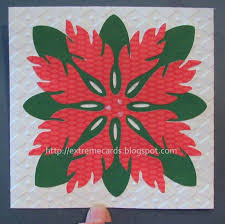 extreme cards and papercrafting poinsettia hawaiian quilt block card
