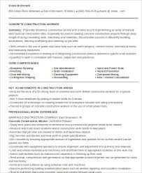 Construction Estimator Resume Sample by Construction Worker Resume Example To Get You Noticed How Laborer