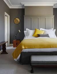 chambre jaune et gris ensoleillez votre chambre avec des détails jaunes et dorés l
