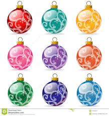 tree ornament bulbs stock illustration image 16432323