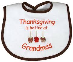 thanksgiving is better at s unisex bib raindrops baby