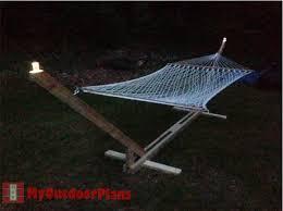 diy hammock stand myoutdoorplans free woodworking plans and