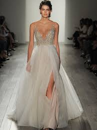 ethereal wedding dress kenny gown by hayley fall 2017 shimmering ethereal