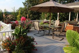 Restaurant Patio Planters by Deck Plantings Sorta Like Suburbia