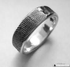 cool wedding rings best 25 fingerprint ring ideas on fingerprint ink