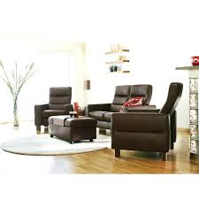 Low Back Sofa Black Leather Sofa Sectional Stressless By Ekornes Furniture Wave