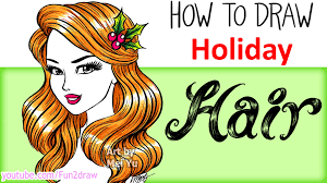 how to draw hair draw color christmas holiday hair youtube