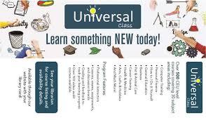 universal online class recorded books universal class