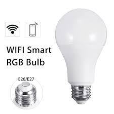 wifi enabled light bulb e26 e27 10w rgb wireless wifi led smart light bulb l for echo for