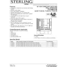 sterling 71240125 0 accord white panels tubs u0026 whirlpools