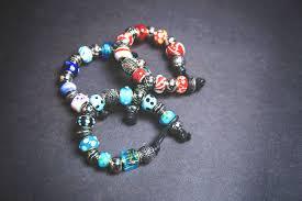 pandora style bead bracelet images Glass pandora style bead bracelet in three colour options a jpg