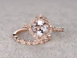 gold and morganite ring morganite engagement rings morganite wedding sets morganite