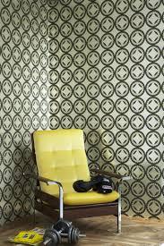 metallic silver moorish circles wallpaper neisha crosland