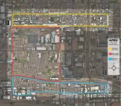 Phoenix Airport Terminal Map by Land Reuse Strategy Phase 1
