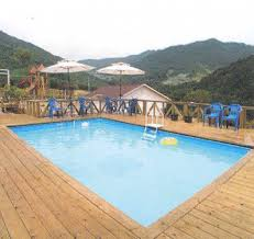 pool deck here u0027s a large wooden pool deck for