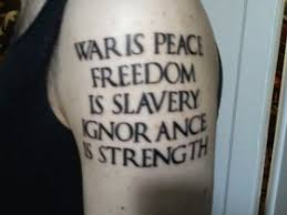 1984 george orwell tattoo war is peace pictures images u0026 photos