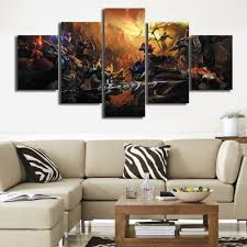 paintings for home decor game wall pictures canvas painting for home decor morden 5 panel