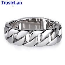 mens bracelet steel images Trustylan shiny glossy 316l stainless steel mens bracelets 2018 jpg