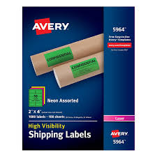 33 Labels Per Sheet Template by Amazon Com Avery High Visibility Neon Shipping Labels For Laser