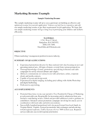 Resume For A Marketing Job by Marketing Resume Objectives Examples