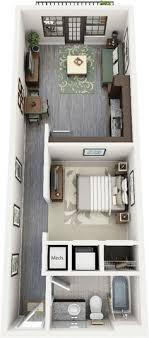 Apartamento Moderno Com  Quarto Smart Home Pinterest Tiny - Apartment floor plans designs