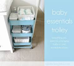 ikea raskog trolley owen s dreamy cloud nursery a little delightful